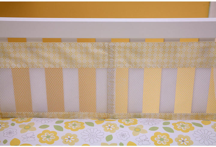 NoJo Crown Craft Bright Blossom Secure-Me Crib Liner