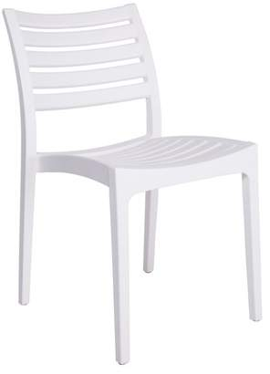 Euro Style Morrow Stacking Chair, White Polypropylene