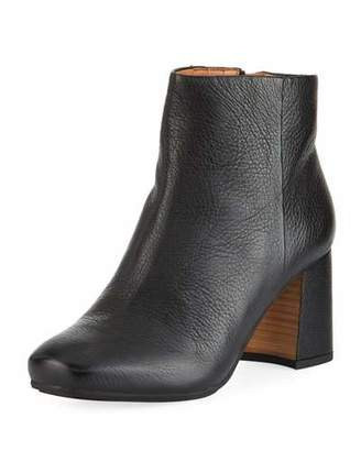 Gentle Souls Troy Leather Block-Heel Booties