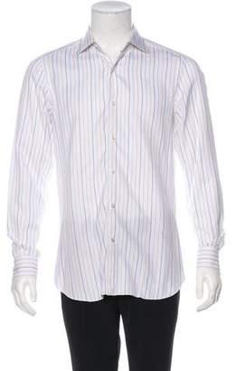 Isaia Striped Dress Shirt