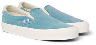 Vans OG Classic LX Suede Slip-On Sneakers - Men - Light blue