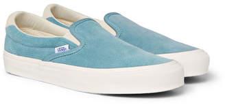 01570a7a1298 at Mr Porter · Vans OG Classic LX Suede Slip-On Sneakers - Light blue