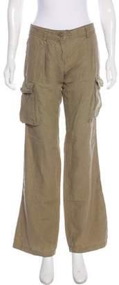 Dolce & Gabbana Linen Low-Rise Pants