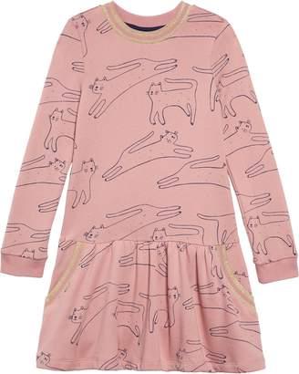 Boden Mini Cozy Drop Waist Sweatshirt Dress