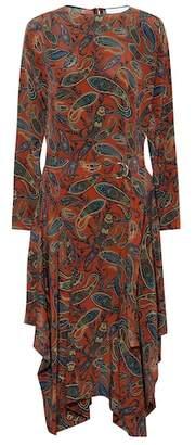 Chloé Printed silk midi dress