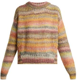 Acne Studios Loose Fit Striped Round Neck Sweater - Womens - Multi
