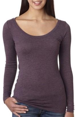 Clementine Apparel Women's Tri-Blend Long-Sleeve Scoopneck T-Shirt