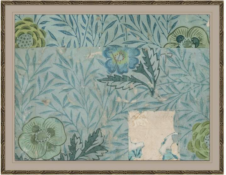 Blue Cornflower by William Morris Archive (Framed Giclee)