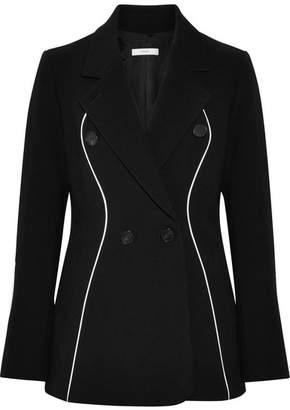 Tome Double-breasted Wool Grain De Poudre Blazer - Black