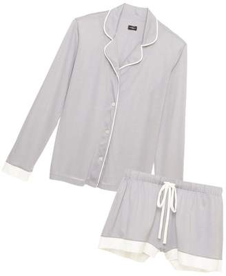 Cosabella Bella Bridal Long Sleeve Top Boxer Pajama Set