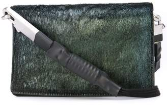 Rick Owens iridescent flap crossbody bag