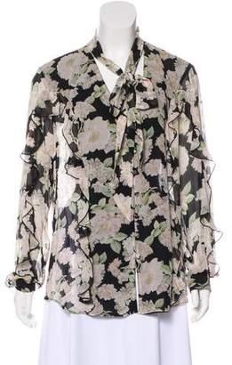 Nicholas Silk Floral Printed Top