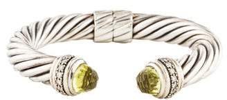 David Yurman Peridot & Diamond Cable Classics Bracelet