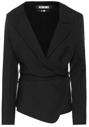 Jacquemus Saad wool wrap jacket