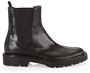 Dries Van Noten Women's Snakeskin-Embossed Leather Chelsea Boots