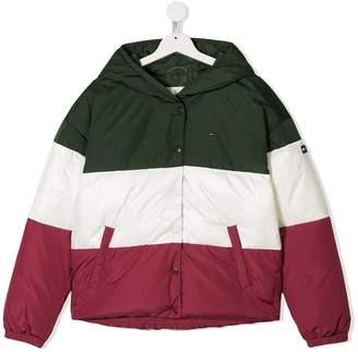 Tommy Hilfiger Junior colour block padded coat
