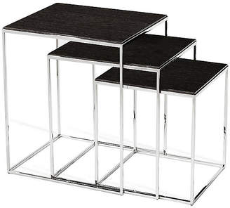 Interlude Asst. of 3 Jax Nesting Tables - Smoked Gray