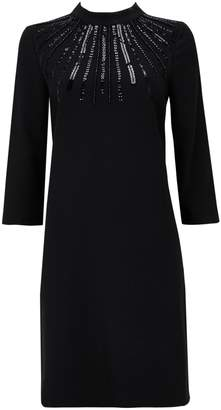 Wallis Black Embellished Shift Dress