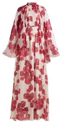 Giambattista Valli Peony Print Silk Georgette Gown - Womens - Pink Multi