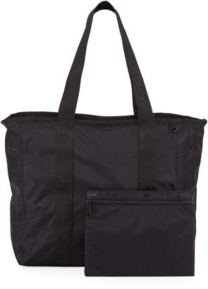 Le Sport Sac Candace Zip-Top Nylon Tote Bag w/ Pouch