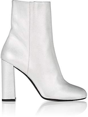 Barneys New York Women's Metallic Leather Ankle Boots - Silver