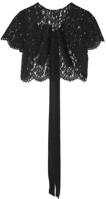 Oscar de la Renta - Cropped Corded Lace Jacket - Black $1,290 thestylecure.com
