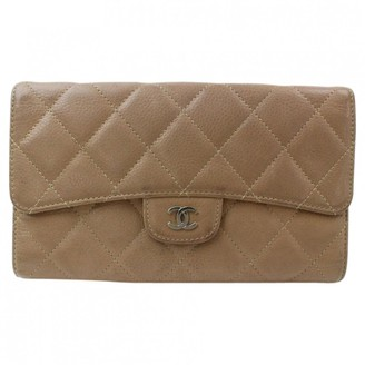 Chanel Timeless/Classique Brown Leather Wallets