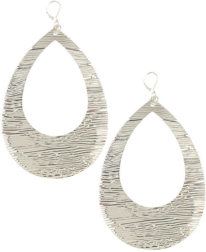 Large Textured Tear Earrings