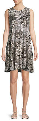 Style&Co. STYLE & CO. Floral A-Line Dress