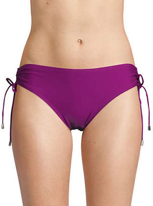 Calvin Klein Side Tie Shirred Hipster Swim Briefs