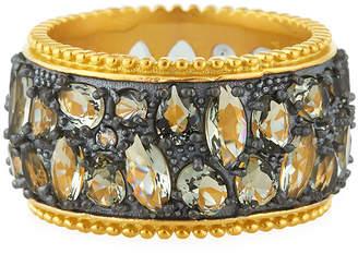 Freida Rothman Rose Dor Cigar Band Ring, Size 8