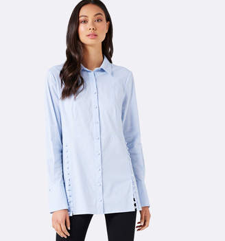 Jane Side Button Long Shirt