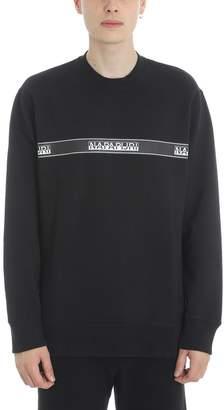 Napapijri Buena Black Cotton Sweatshirt
