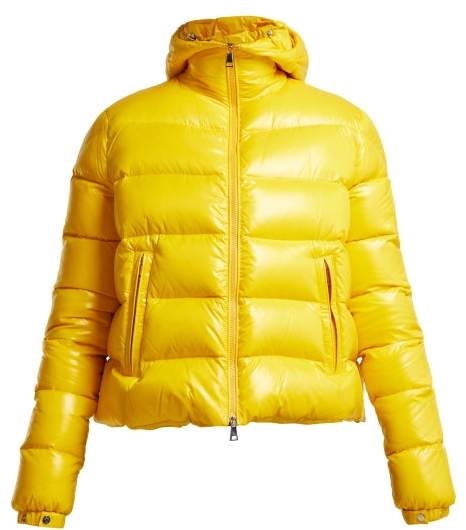 1 Pierpaolo Piccioli - Ginevra Hooded Quilted Down Ski Jacket - Womens - Yellow