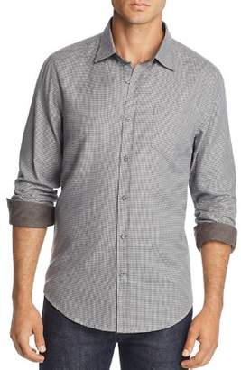 Bloomingdale's The Men's Store at Houndstooth-Print Regular Fit Flannel Shirt - 100% Exclusive