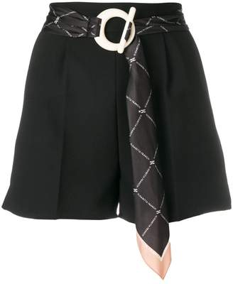 Elisabetta Franchi belted tailored shorts