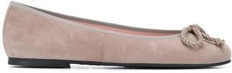 Pretty Ballerinas rope-bow ballerina shoes