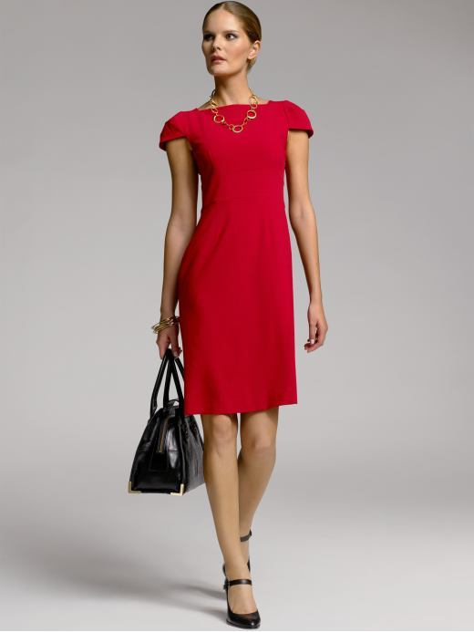 BR Monogram cap-sleeve sheath dress