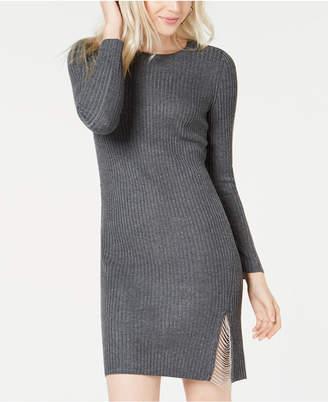 Bar III Slit Chain Sweater Dress