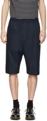 Neil Barrett Navy Drop Shorts