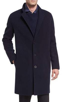 Vince Notch-Lapel Single-Breasted Coat