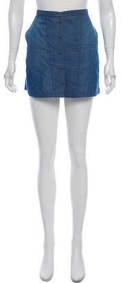 Theyskens' Theory Denim Mini Skirt