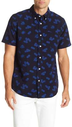 Joe Fresh Short Sleeve Pineapple Print Standard Fit Shirt