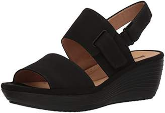 581f0d0c8056 Clarks Black Platform Wedge Women s Sandals - ShopStyle