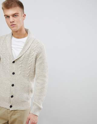 Esprit cable knit cardigan in twisted yarn
