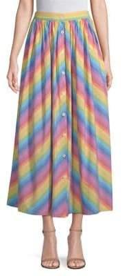 Button-Front Skirt