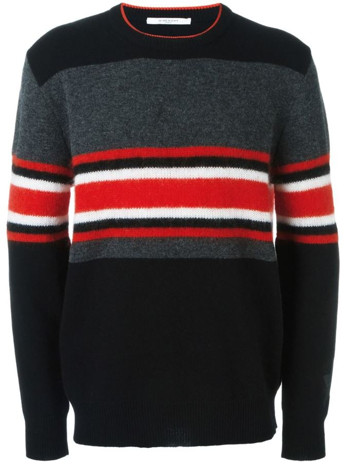Givenchy colour block striped jumper