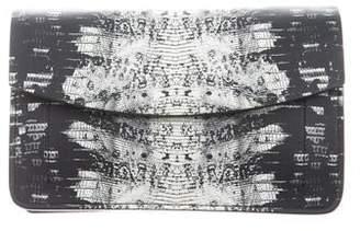 Reed Krakoff Suede-Trim Leather Clutch