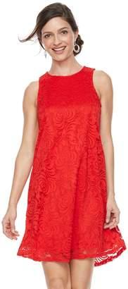Women's Sharagano Keyhole Lace Shift Dress