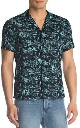 The Kooples Sunrise Capsule Palm Skulls Print Slim Fit Button-Down Shirt $195 thestylecure.com